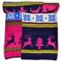 Розовый шарф с оленями thumb