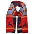 Купить красный шарф с оленями thumb