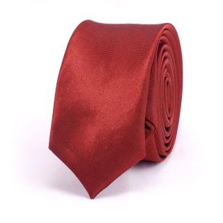 Супер узкий галстук #013 (бордовый)