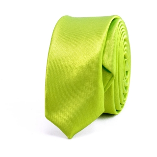 Недорогой узкий зеленый галстук