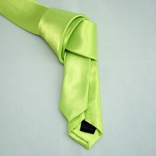 Зеленый узкий галстук