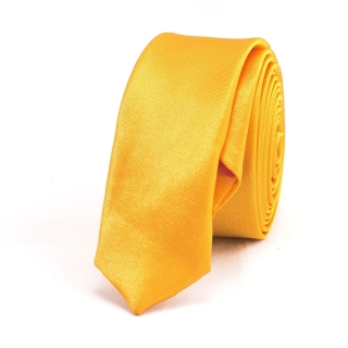 Супер узкий галстук #016 (желтый)
