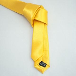 Супер узкий желтый галстук
