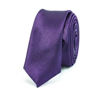 Недорогой узкий фиолетовый галстук