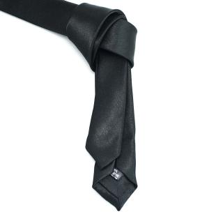 Недорогой узкий черный галстук