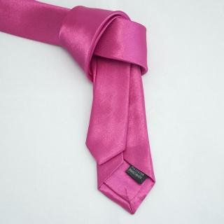 Недорогой узкий розовый галстук