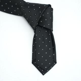 Черный галстук с блестками