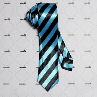 Узкий полосатый галстук