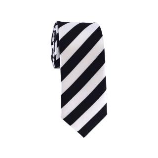 Узкий галстук в полоску