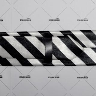 Черно-белый галстук узкий