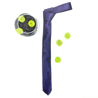 Фиолетовый галстук узкий однотонный