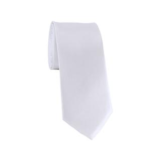 Узкий галстук #008 (белый)
