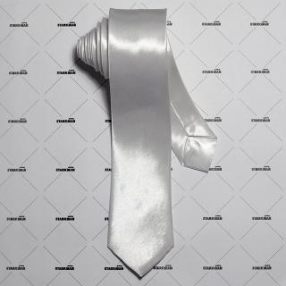 Белый галстук 5 см
