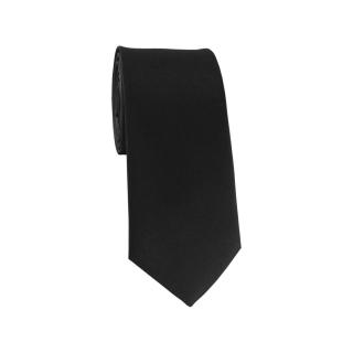 Узкий черный галстук