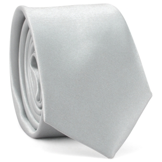 Узкий галстук #161 (серебряный)