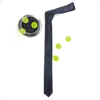 Узкий галстук #162 (темно-синий)