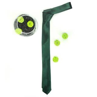Узкий зеленый галстук