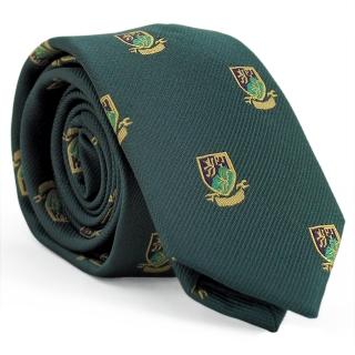 Узкий галстук #172 (зеленый герб)