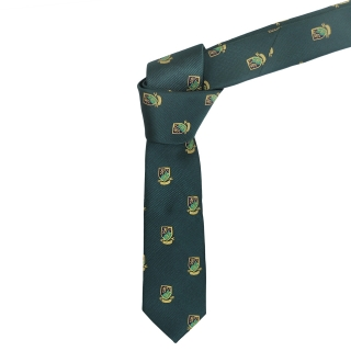 Зеленый галстук с гербами