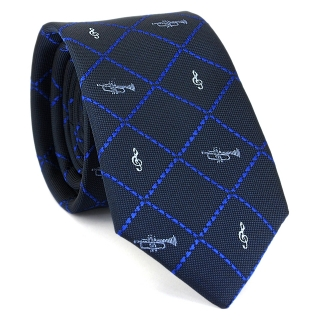 Узкий галстук #119 (синий)