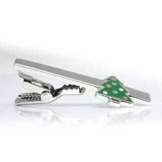 Купить зажим для галстука новогодний