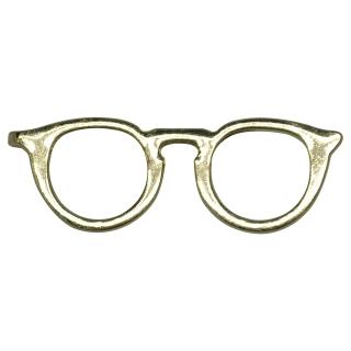 Зажим для галстука золотистые очки
