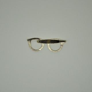 Купить прищепку на галстук золотые очки