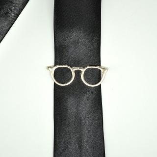 Золотистые очки на галстук