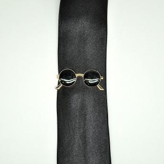 Зажим на галстук в форме очков