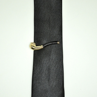 Прищепка на галстук в виде трубки