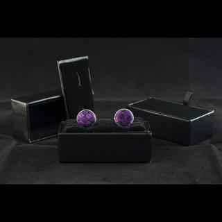 Мужские фиолетовые запонки
