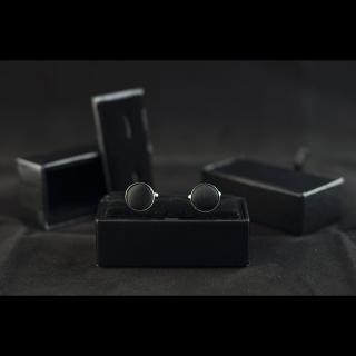 Недорогие мужские черные запонки