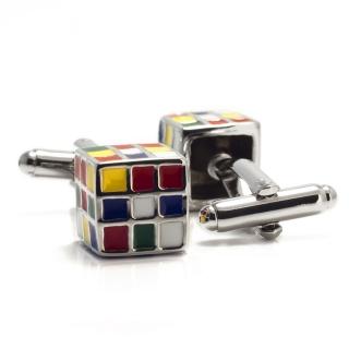 Запонки в форме кубика Рубика