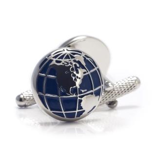 Купить запонки в виде земного шара