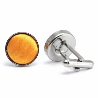 Запонки #052 (апельсиновые)