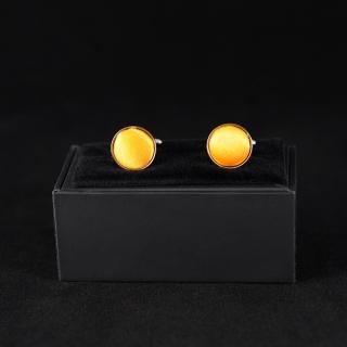 Апельсиновые мужские запонки недорого