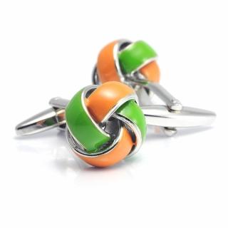 Запонки #059 (оранжевые)