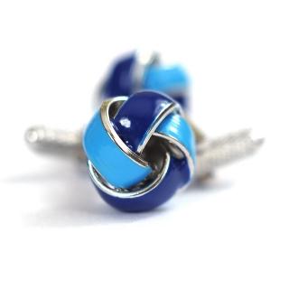 Запонки #089 (голубые узелки)