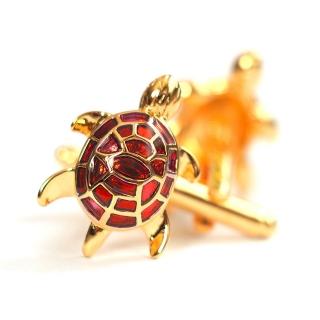 Запонки #091 (красная черепаха)