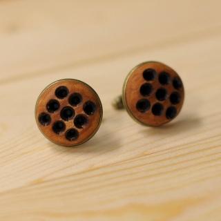 Дизайнерские деревянные запонки
