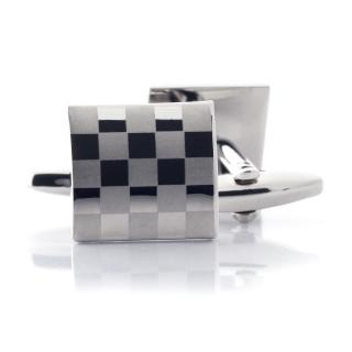 Мужские запонки шахматные