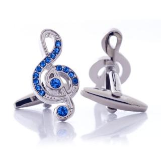 Запонки #008 (скрипичный ключ)