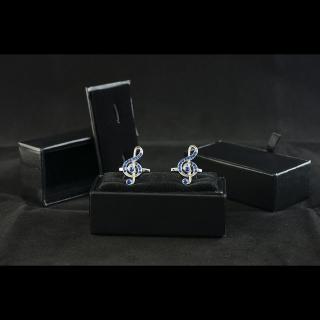 Запонки из ювелирной стали скрипичный ключ