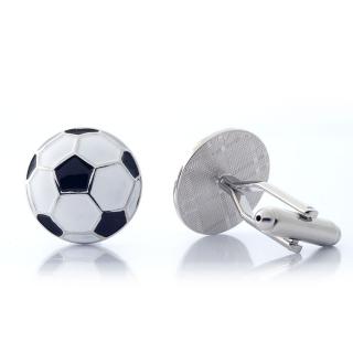 Запонки из стали в форме футбольного мяча