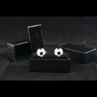 Купить запонки в виде футбольного мяча